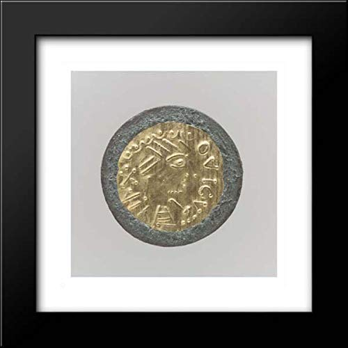Frankish Culture - 15x15 Framed Museum Art Print- Gold Disk Brooch