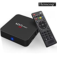 Henscoqi MXQ PRO 4K Android TV Box Quad Core Amlogic Set Top Box WiFi 1G 8G Memory