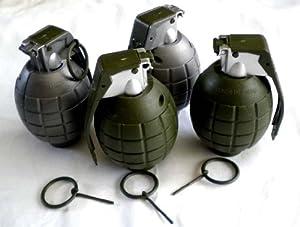 Amazon.com: Toy Hand Grenades - BULK Set of 4: Toys & Games