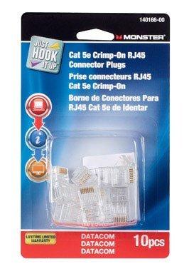PLUG CRIMP CAT-5E 10PK by MONSTER JHIU MfrPartNo 140166-00