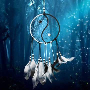 Dreamcatcher Chinese Taiji Dream Catcher Room Wall Window Hanging Ornaments Decoration Decor Gifts^.