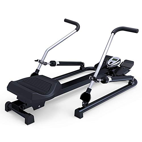 JIAYUAN Abdominal Trainers Hydraulic Rowing Machine Rower with LCD Monitor, Adjustable Resistance and Full Arm Extensions, 350 lb Weight Capacity Exercise Cardio Fitness Equipment for Home Use