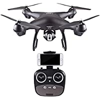 Littleice S70W 2.4GHz GPS FPV Drone Remote Control Quadcopter with 1080P HD Camera Wifi Headless Mode (Black)