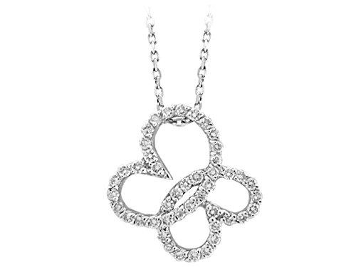 Collier Coeur de Diamants-Femme- or Blanc 204P0025