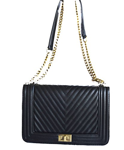quilted black purse - 8
