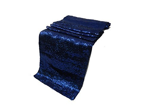 (ELINA'S Pack OF1 Wedding 13 x 108 inch Sequin Table Runner Wedding Banquet Decoration (1, Royal Blue))