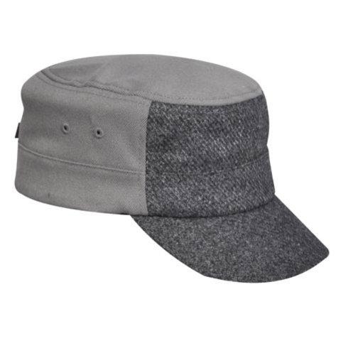 Flannel Kangol Dark - Kangol Men's Textured Wool Army Cap, Flannel L/XL