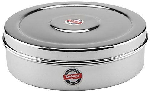 Embassy Stainless Steel Deep Chapati Box/Multipurpose Container, 1100 ml; Size 11