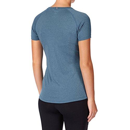 Asics oberbekleidung Stripe Top Short Sleeve, todo el año, unisex, color Azul - azul, tamaño XS Azul - azul