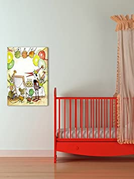 Marmont Hill Vintage-Kids Birthday Party Canvas Wall Art 24 X 36