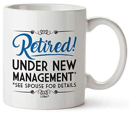 Funny Retirement Gifts Gag for Men Women Dad Mom Valentines Day Husband Wife Boyfriend Humorous Retirement Coffee Mug Gift Retired Mugs for Coworkers Office & Family Unique Novelty Ideas for Her