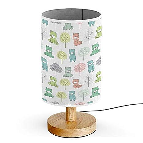 Amazon.com: ARTSYLAMP - Lámpara de mesa, base de madera ...