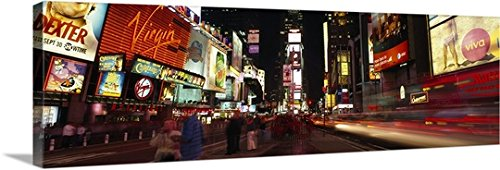 Canvas On Demand Premium Thick-Wrap Canvas Wall Art Print entitled Buildings in a city, Broadway, Times Square, Midtown Manhattan, Manhattan, New York City, New York State - Broadway Square York New Times