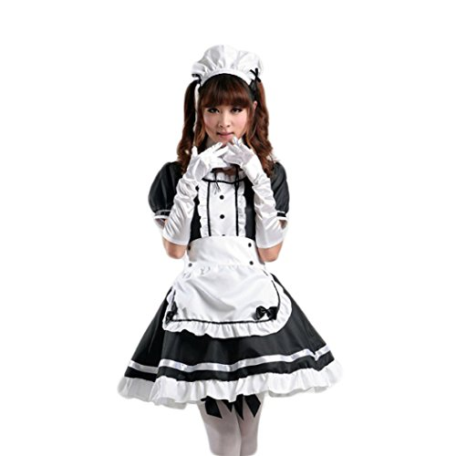 [Costumes Anime Cosplay French Apron Maid Lolita Maid Xl] (Halloween Costumes For Asian Women)