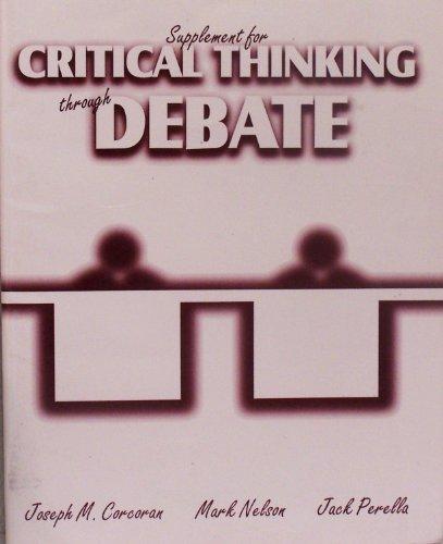 Supplement for Critical Thinking Through Debate