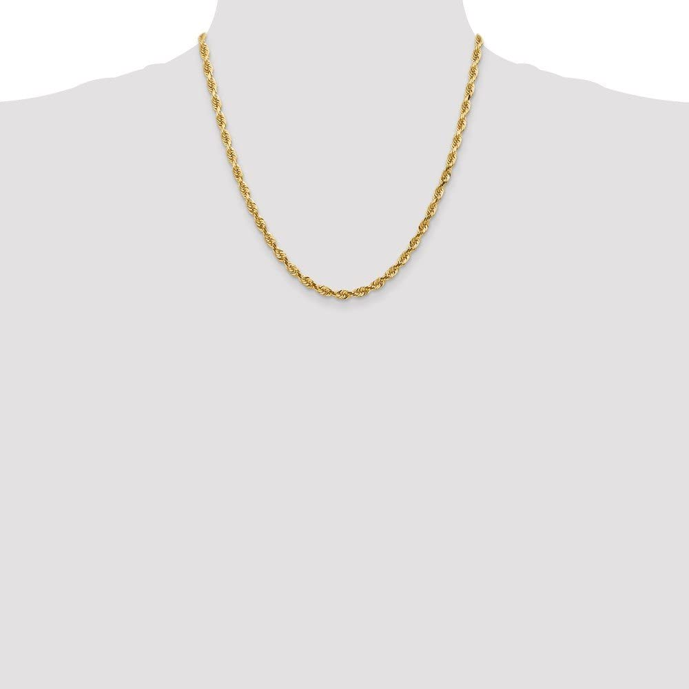 Jewels By Lux 14K Yellow Gold 2.75mm D//C Quadruple Rope Chain