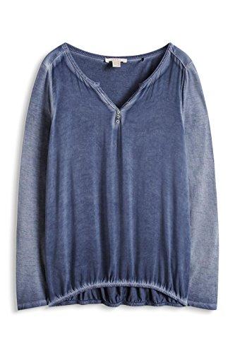 Esprit, Camisa para Mujer Azul (DARK BLUE 405)