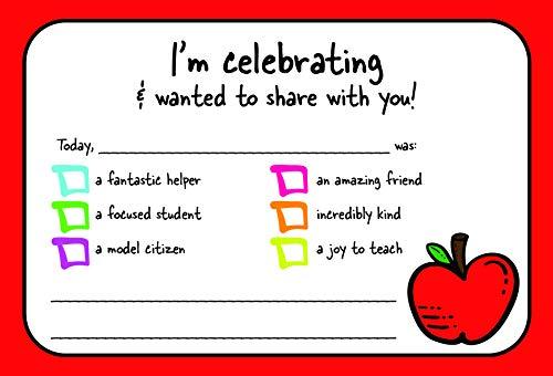 - Teacher Positive Postcards - Good News Thank You Note from Teacher Motivational for Preschool Kindergarten or Elementary School Teachers - 50 cards