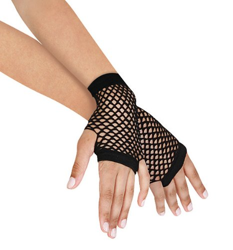 Leego (Adult Short Fingerless Black Gloves)