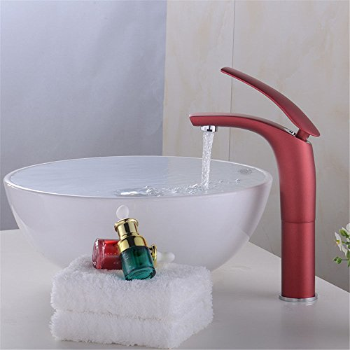 ETERNAL QUALITY Bathroom Sink Basin Tap Brass Mixer Tap Washroom Mixer Faucet The tap Cold Water taps on The Console Table Basin Faucet Basin Faucet Copper-Red Kitchen Sink Taps