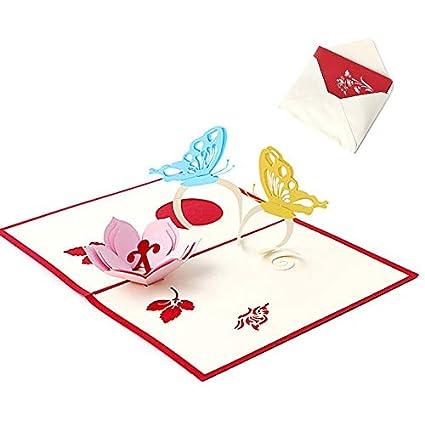 Vazan - tarjeta de felicitación 3D Pop Up regalos hechos a ...