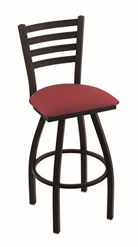 Red Wine Seat Black Frame (Holland Bar Stool Co. 410 Jackie 36