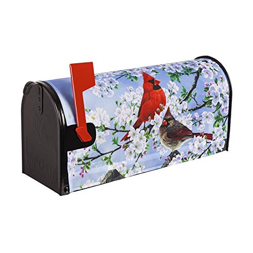 Evergreen Glorious Morning Cardinals Magnetic Mailbox Cover