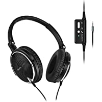 MizzJoy Active Noise Cancelling Headphones, Effectively Removes 85% Background Noise, Foldable Over Ear Headset with Microphone for iPhone iPod iPad and Android Devices