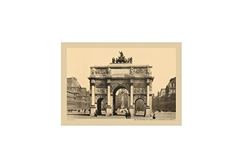 Buyenlarge Carousal Triumphal Arch and Monument Gambetta Print (Canvas 24x36)
