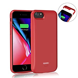 AEDLYK Upgrade Battery Case for iPhone 6/6S/7/8/SE 2020 4000mAh Rechargeable Charging Case Magnetic Slim Phone Stand External Battery Pack Protective Charger Case for iPhone 6/6s/7/8 (4.7inch) (Red)