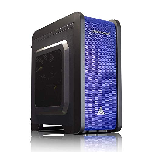 Aerocool QS-240 Micro ATX Chassis – Blue Color (No Power Supply)