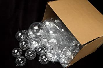 Amazon.com: Bulk Case of 24 Clear Acrylic 100mm Fillable Keepsake ...