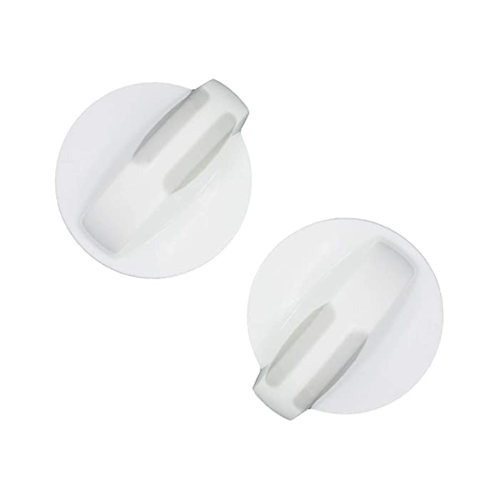 AMI PARTS 2 Pack 134844410 Washer/Dryer Selector Knob, white Compatible with Frigidaire