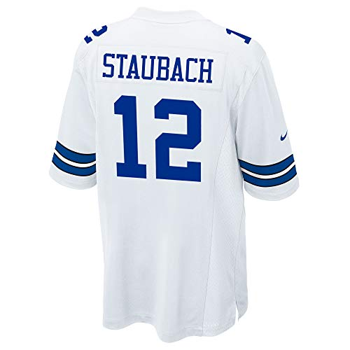 NFL Mens Dallas Cowboys Roger Staubach NIKE Jersey, Game White, 3X-Large