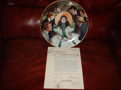 Collector Plate - Gone with the Wind - Golden Anniversary Series Plate #1 - Scarlett and Her Suitors