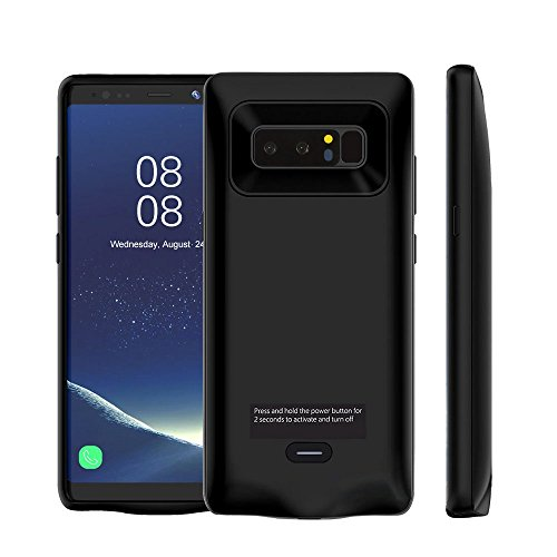 Samsung Galaxy Note 8 Battery Case, Mbuynow 5500mAh Rechargeable External Battery Portable Charger Case Protective Charging Case Power Bank Cover for Samsung Galaxy Note 8 Black