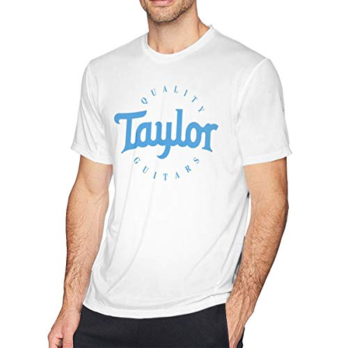 HEETENGGRTTENG O-Neck Fashion Taylor Quality Guitars Generic Short Sleeve T-Shirt for Mens and Boys White 5XL
