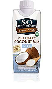 So Delicious Coconut Milk Culinary Lite 11 Ounce (Pack of 12), Organic Coconut Milk for Cooking and Baking, Lighter than Canned Coconut Milk for Everyday Recipes