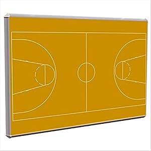 Lavagna magnetica campo da basket Sgs - 60x90 cm - arancio ...