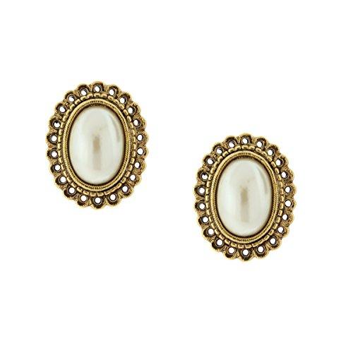 1928 Jewelry Her Majesties Pearl Statement Earrings