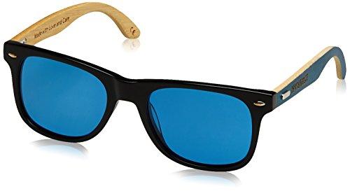 54 de Gafas Sol Bambú Azul Negro Unisex Waymix HÄRVIST 8zq4xfASq