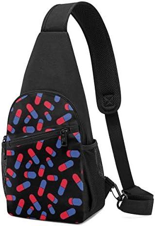薬 斜め掛け ボディ肩掛け ショルダーバッグ ワンショルダーバッグ メンズ 多機能レジャーバックパック 軽量 大容量
