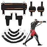 KIKIGOAL MMA Boxing Training Resistance Band Set Enhance Explosive Power Strength Training Equipment for Muay Thai,Karate Combat,Fitness,Basketball,Volleyball,Football Men&Women