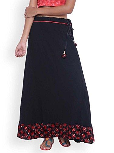Indian 9rasa Printed Black Maxi Export Handicrfats Skirt BvqEwrBT