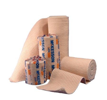 McKesson 16-1033-4 Medi-Pak Knit Elastic Bandage, Premium, Single Self-Closure, Honeycomb, Non-sterile, Stretched, 4