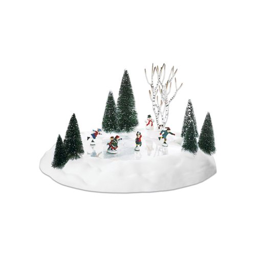 Department 56 Accessories for Villages Animated Skating Pond Accessory Figurine (15-Piece Set)