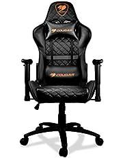 COUGAR Gaming Armor One Black Gaming-stoel, kunstleer, zwart, medium