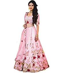 Shree Radhe Enterprise Women's Silk Semi-stitched Lehenga Choli