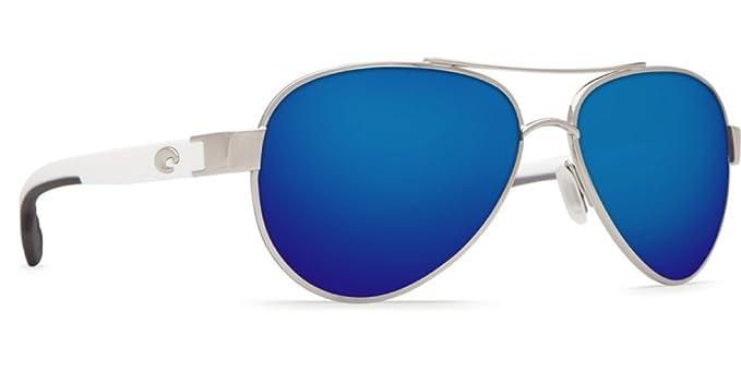 91d9fa7721 Costa Del Mar Loreto 580P Polarized Men Sunglasses (Palladium Frame, Blue  Mirror Lens LR21