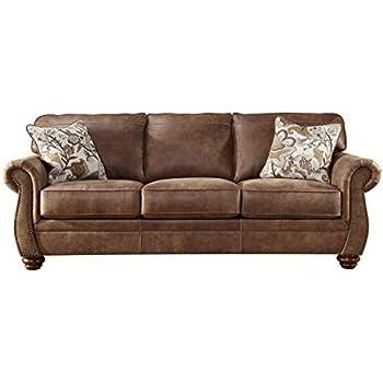 Amazon.com: Acanva Contemporary Leathaire Leather Living ...